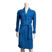 REDCARPET TURKISH BATHROBE (SHAWL) DARK BLUE