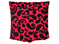 PAISLEY CUSHION RED