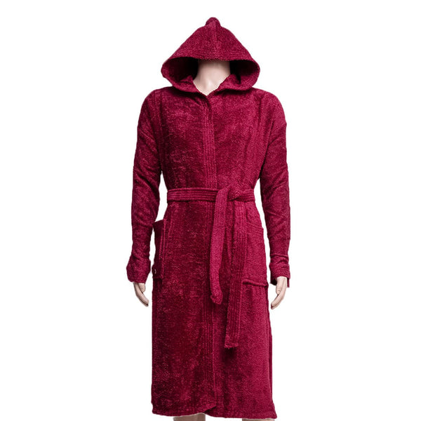 REDCARPET LA'MARVEL BATHROBE (HOODED) RED