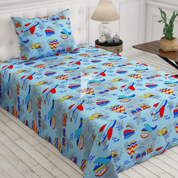Xara kid's 2 pcs single bedsheet 5487