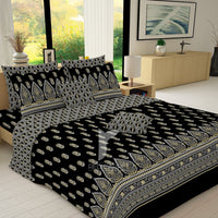Redcarpet 8 pcs king reversible quilt cover set bedsheet 5532-5533