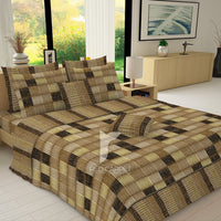 Redcarpet 8 pcs king reversible quilt cover set bedsheet 5671-5672