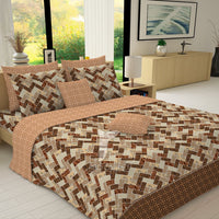 Redcarpet 8 pcs king reversible quilt cover set bedsheet 5704-5705