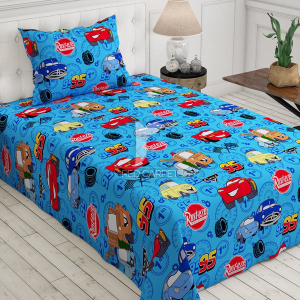 Xara kid's 2 pcs single bedsheet 5774 (blue)