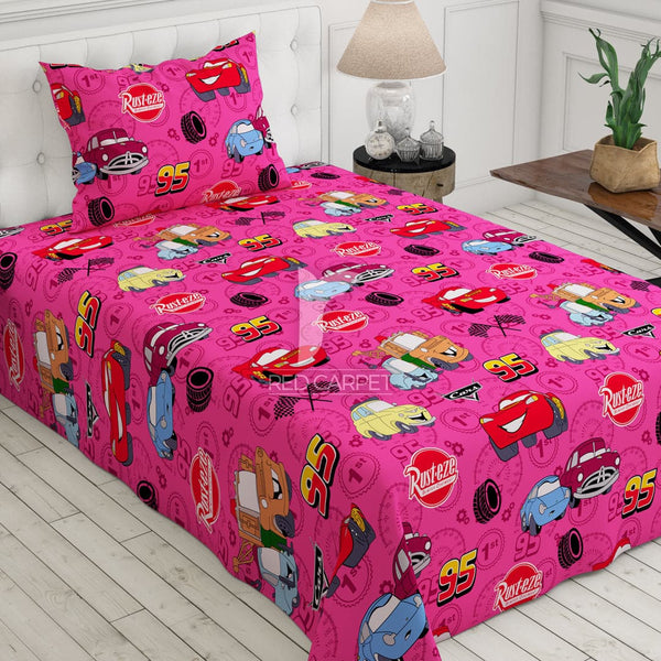 Xara kid's 2 pcs single bedsheet 5774 (pink)