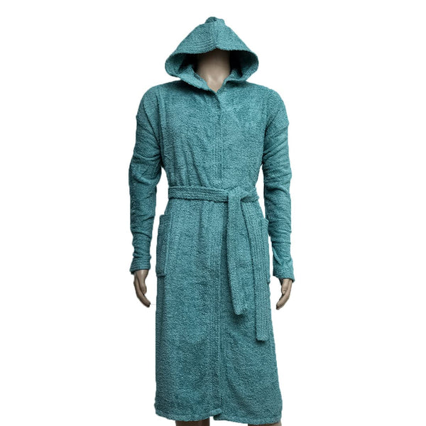 REDCARPET LA'MARVEL BATHROBE (HOODED) TEAL BLUE