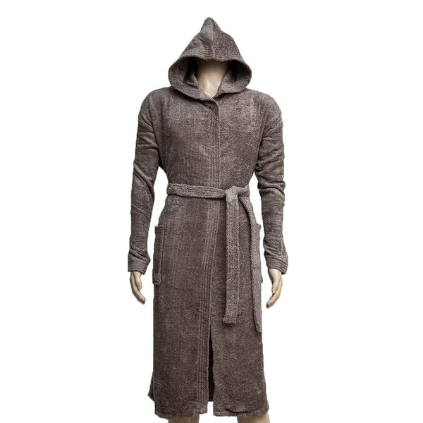 REDCARPET LA'MARVEL BATHROBE (HOODED) BROWNISH GREY