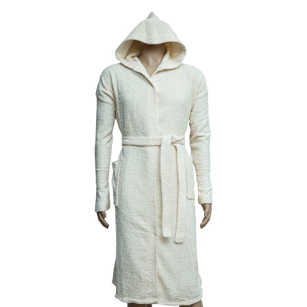 REDCARPET LA'MARVEL BATHROBE (HOODED) OFFWHITE