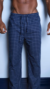 Blue Checkered Pajama Pants