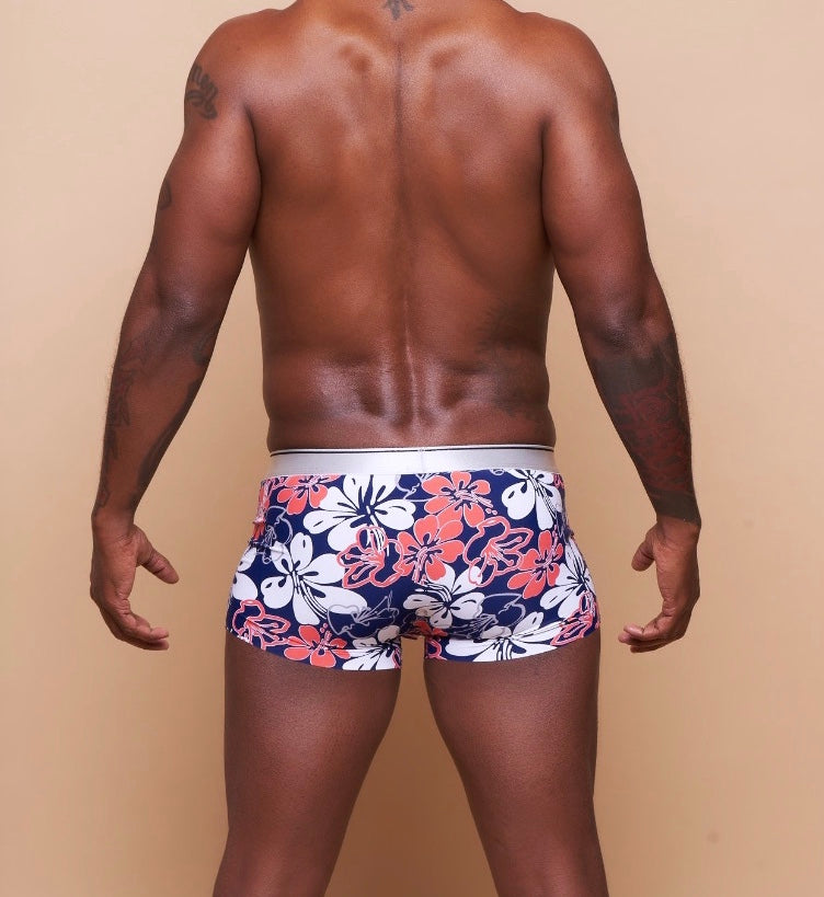 Hawaiian Floral Trunk Brief