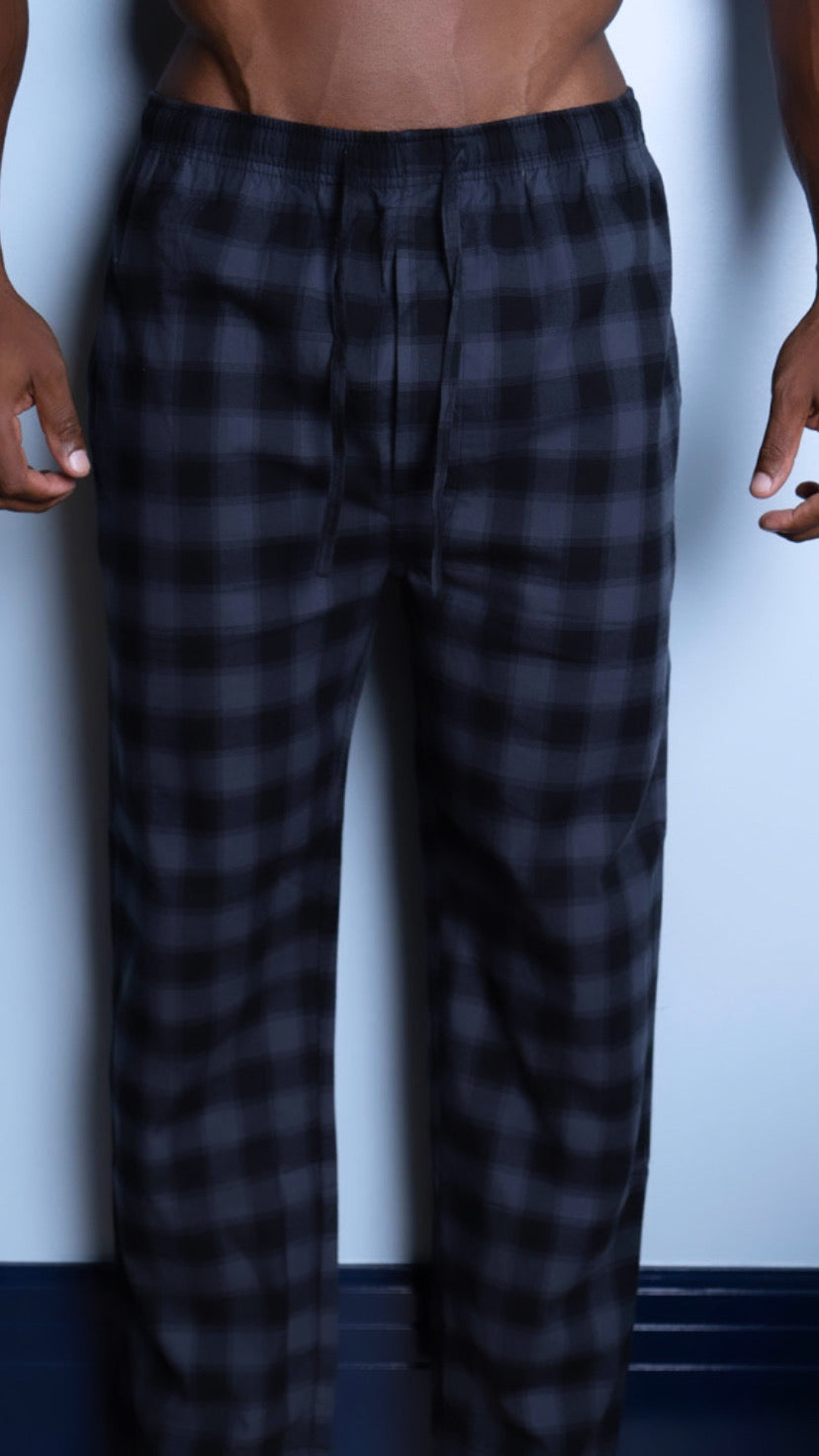 Black And Gray Checkered Pajama Pants