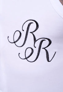"Bromper with ""RR"" Embroidery"