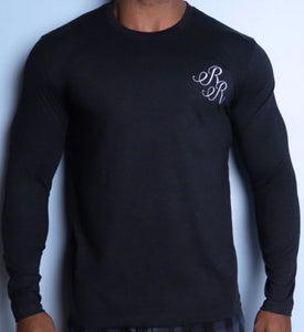"Long Sleeve  Relaxed Embroidered ""RR"" T-Shirt"