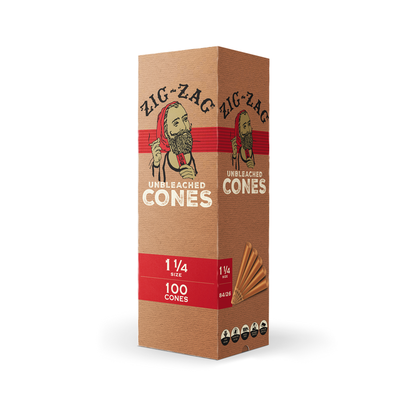 Mini Bulk Unbleached Cones 1 1/4 - 100 Count