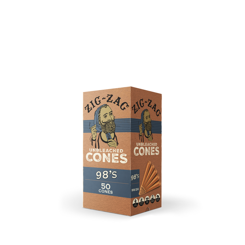 Mini Bulk Unbleached Cones 98's - 50 Count