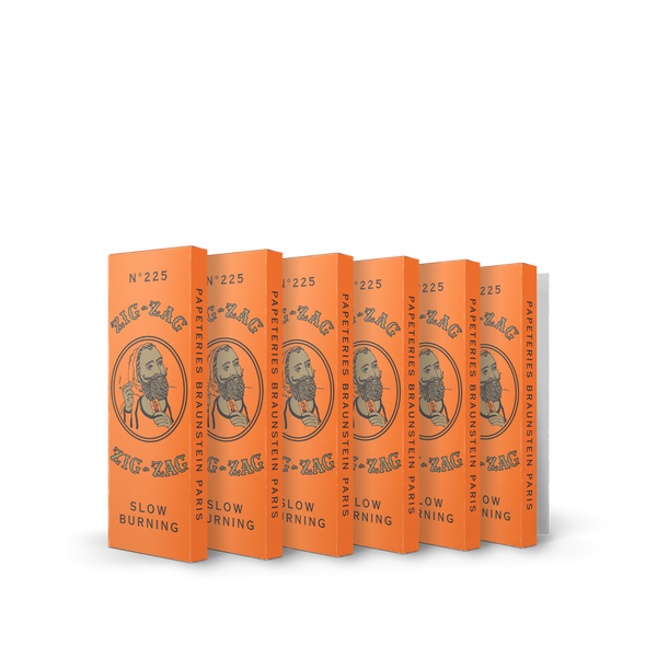 6 Pack French Orange Rolling Papers 1 1/4