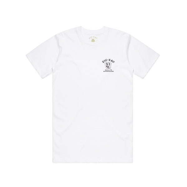 Zig-Zag Qualite Superieure T-Shirt - White