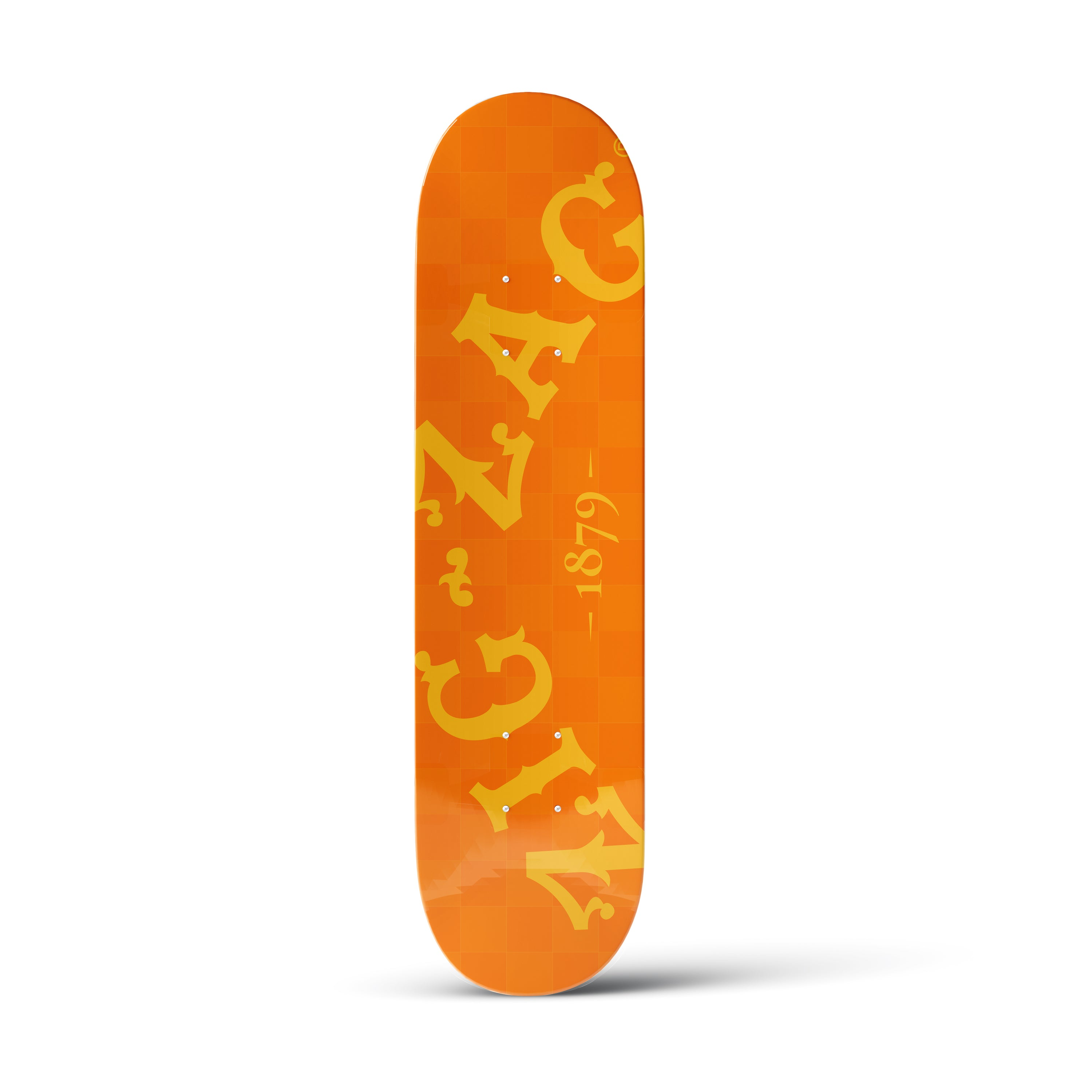 Zig-Zag Orange Skateboard