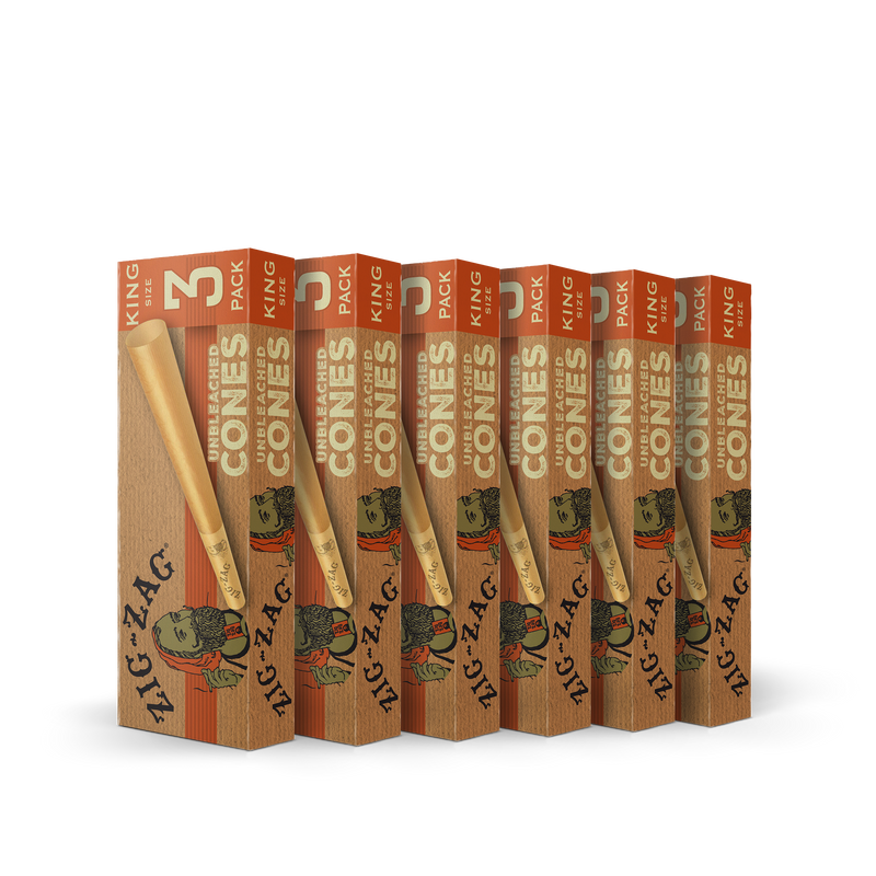 6 Pack Unbleached Cones King Size