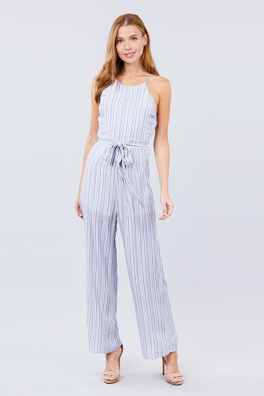 CAMI BELTED JUMPSUIT