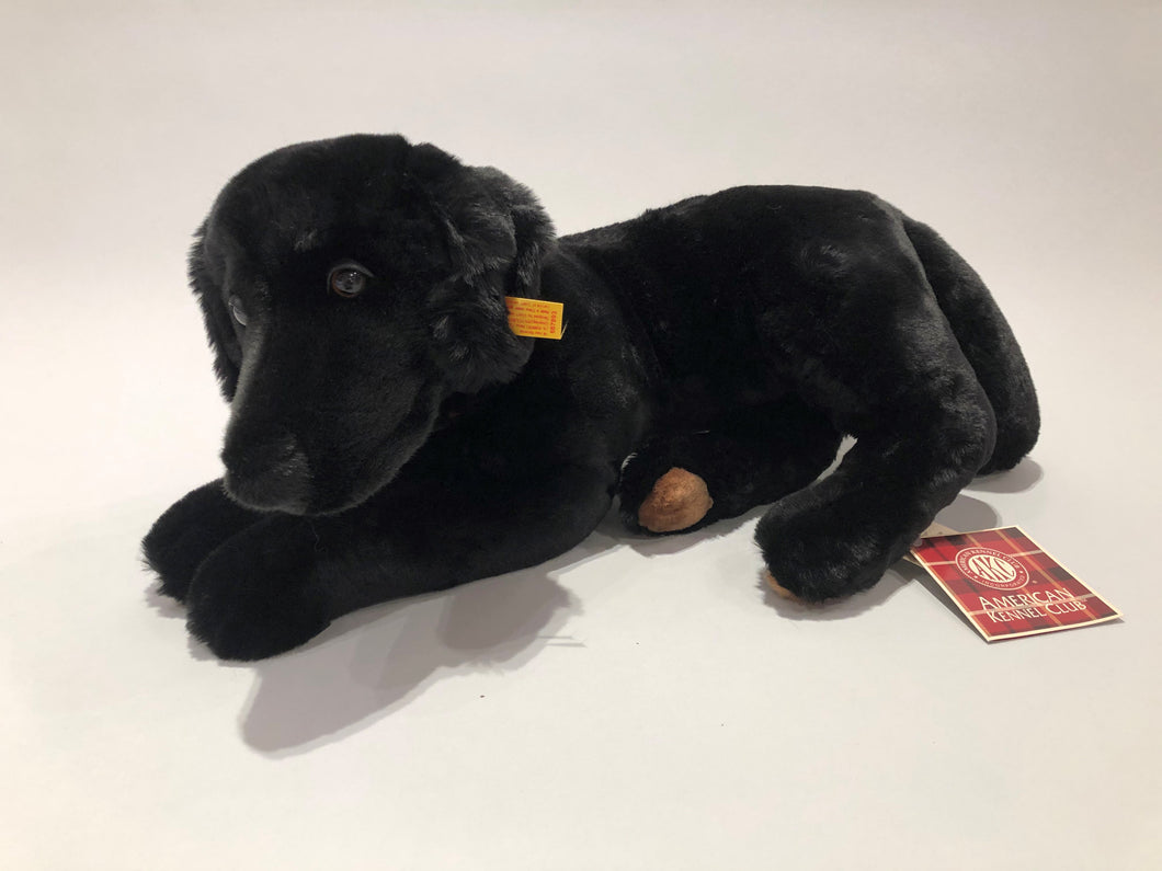Collector's Edition Steiff and AKC Black Labrador Retriever Stuffed Animal