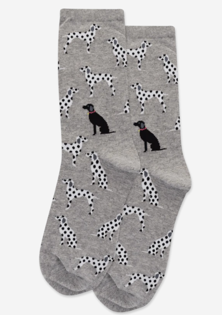 Women's Dalmatian Socks in Gray