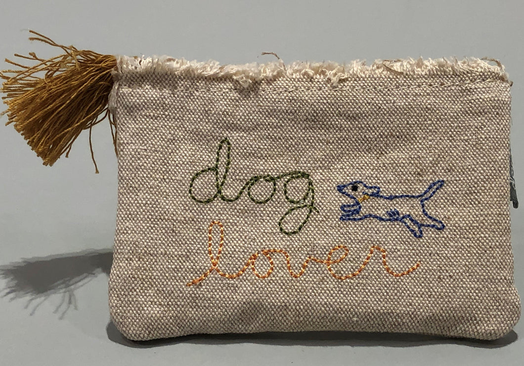 Dog Lover Canvas Pouch