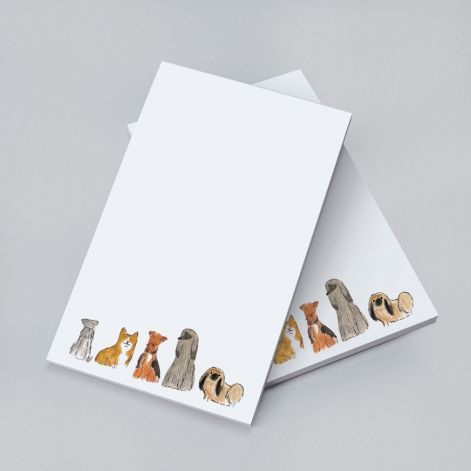 Crane Stationary Dogs Notepad