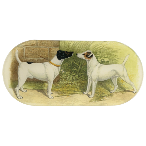 John Derian Fox Terrier Oblong Tray