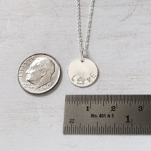 Load image into Gallery viewer, Silver Love Necklace