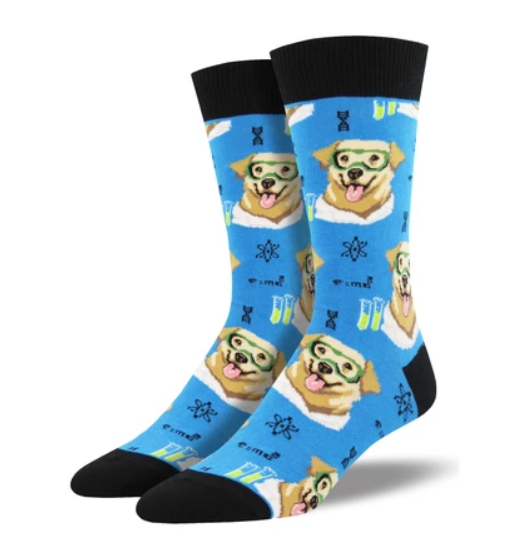 Men's Science Lab Socks in Blue