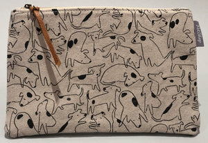 Spotted Dog Canvas Pouch