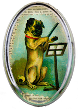 Load image into Gallery viewer, John Derian Pug Conductor Oval Paperweight