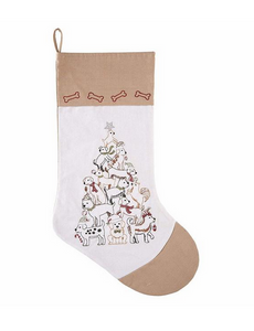 Puppy Christmas Tree Stocking