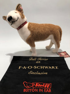 Collector's Edition Steiff and AKC Bull Terrier Cashmere Stuffed Animal