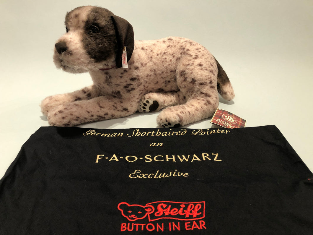 Collector's Edition Steiff and AKC German Shorthaired Pointer Cashmere Stuffed Animal