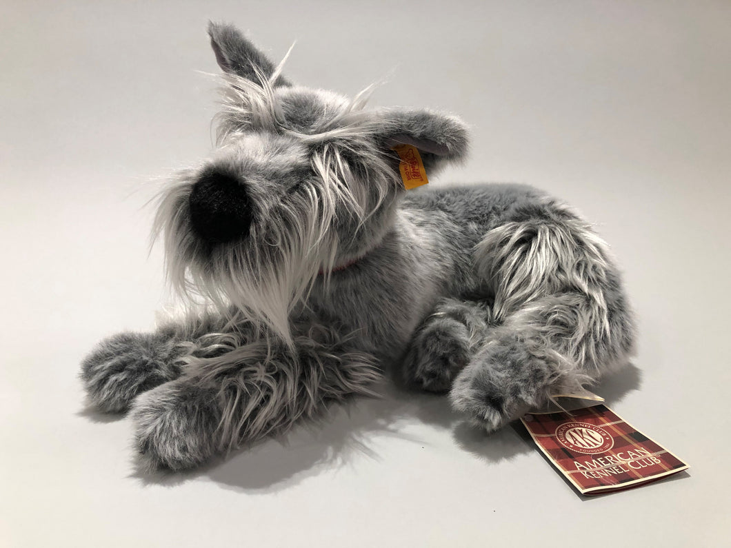 Collector's Edition Steiff and AKC Schnauzer Stuffed Animal
