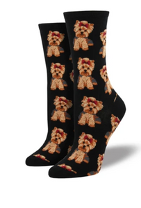 Women's Yorkie Socks - Black