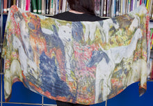 Load image into Gallery viewer, Dog Portraits Scarf by Debbie Martin Designs