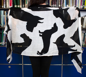 Dog Silhouette Scarf By Debbie Martin Designs