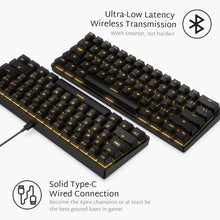 Load image into Gallery viewer, RK ROYAL KLUDGE RK61 Wireless 60% Mechanical Gaming Keyboard, Ultra-Compact Bluetooth Keyboard with Tactile Brown Switches, Compatible for Multi-Device Connection, Black