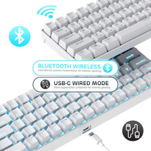 Load image into Gallery viewer, RK68 65% Wireless Gaming Keyboard, Compact Bluetooth Mechanical Keyboard with Gateron Red Switch and Stand-Alone Arrow/Control Keys, Compatible for Multi-Device Connection
