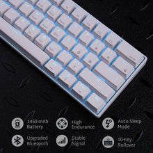 Load image into Gallery viewer, RK ROYAL KLUDGE RK61 Wireless 60% Mechanical Gaming Keyboard, Ultra-compact Bluetooth Mechanical Keyboard with 10 Hours Battery Life and Blue Switches, Reliable Fast Actuation Compatible for Multi-device Connection