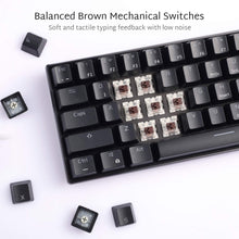 Load image into Gallery viewer, RK ROYAL KLUDGE RK61 Wireless 60% Mechanical Gaming Keyboard, Ultra-compact Bluetooth Mechanical Keyboard with 10 Hours Battery Life and Brown Switches, Reliable Fast Actuation Compatible for Multi-device Connection