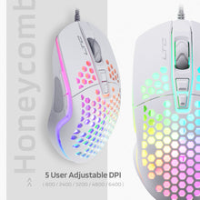 Load image into Gallery viewer, LTC Circle Pit, HM-001, Gaming Mouse, White