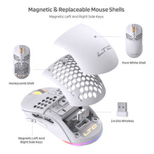 Load image into Gallery viewer, Mosh Pit RGB Wireless Gaming Mouse with Ultra Lightweight Honeycomb Shell, Adjustable 16,000 DPI, Ergonomic Shape for Right or Left Hand Use, Comfortable 2.4G Mice