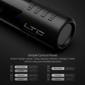LTC AudioGarden Bluetooth 5.0 Soundbar, Wired/Wireless Computer Speaker