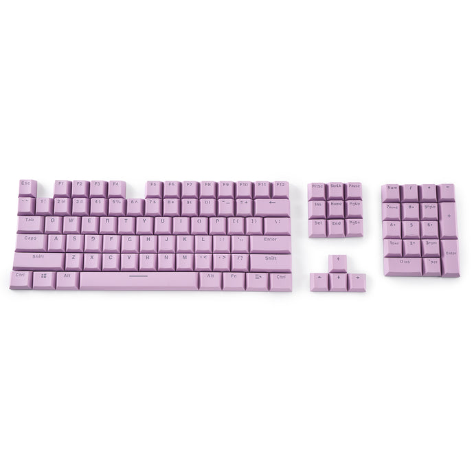 LavaCaps Double Shot PBT 104 Keycaps Set with Translucent Layer for Mechanical Keyboard - Macaron Purple