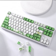 Load image into Gallery viewer, LavaCaps PBT 108 Keycaps Set, Thick PBT Keycaps for Mechanical Keyboard (Chinese Style Green Reindeer)