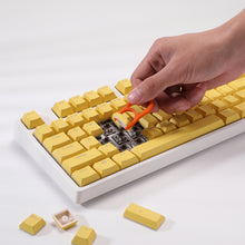 Load image into Gallery viewer, LavaCaps Double Shot PBT 104 Keycaps Set with Translucent Layer, Double Shot Keycaps for Mechanical Keyboard - Macaron Yellow